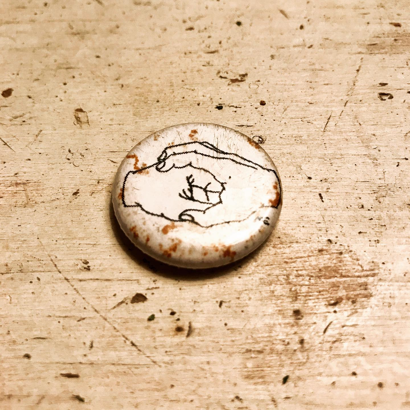 og pin from a few years back - new merch coming soon!